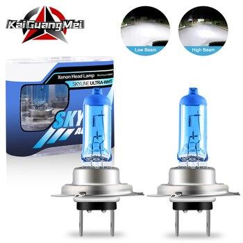 2PCS H1 H4 H7 H3 H11 H8 9005 9006 Car Halogen Xenon Light Bulbs 55W White 5000K 12V for LED Headlight High/Low Beam Fog Lights honsco h7 24w 1800lm 5000k white light led high power car headlight kit dc12 18v 2 pcs