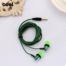 EDAL наушники-вкладыши 3,5 мм стерео наушники шумоизоляция Светоотражающие волокна радиоантенна для MP3/mp4 наушники гарнитура