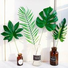 ประดิษฐ์ Leaf สีเขียว Tropical จำลองใบสำหรับ Photo Props พื้นหลังการถ่ายภาพตกแต่งรายการ fotografia ฉากหลัง