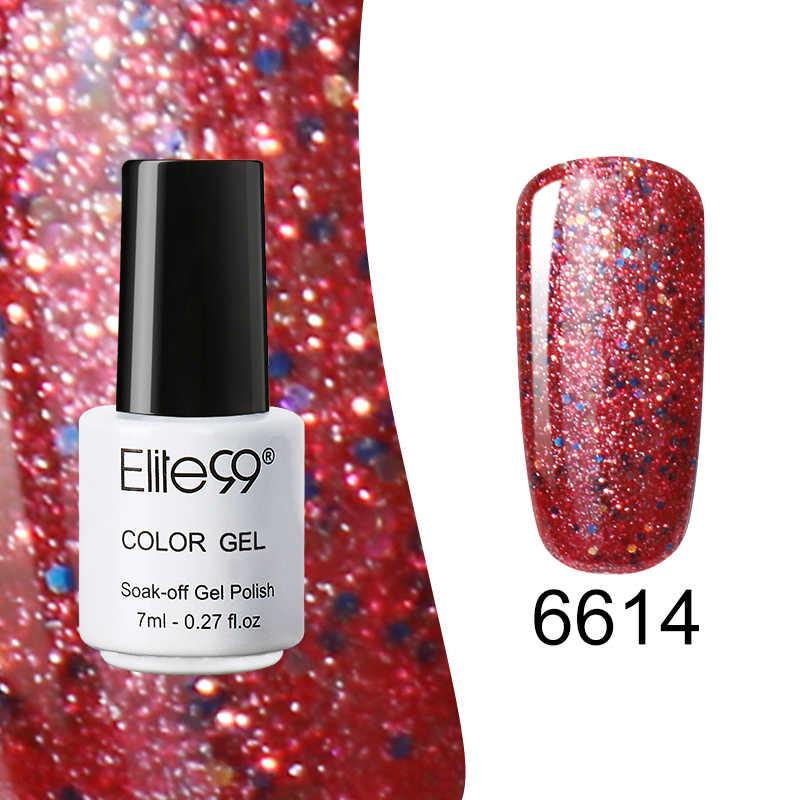 Elite99 Shining Starry Nail Art 7ml 30 สี Diamond Shining Glitter เลื่อม Starry Platinum สีเจลเคลือบเงาเล็บเจล lacquer