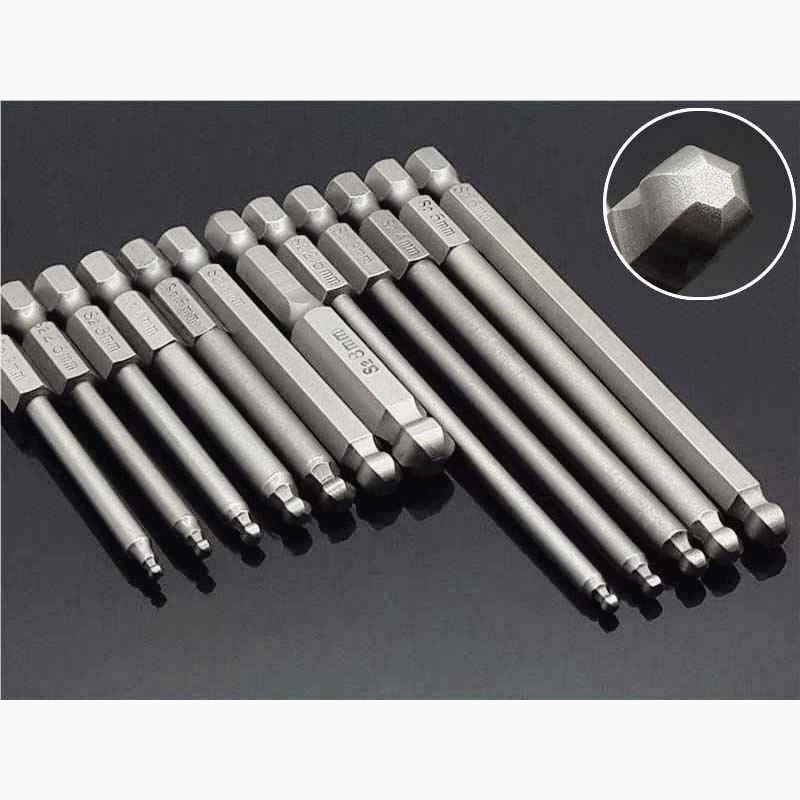 "5mm Hex Allen 25MM 1//4/"" HEX  Tin Titanium coated  QUALITY BITS S2 Steel"
