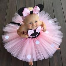 Платье пачка для маленьких девочек с Минни Маус платье принцессы