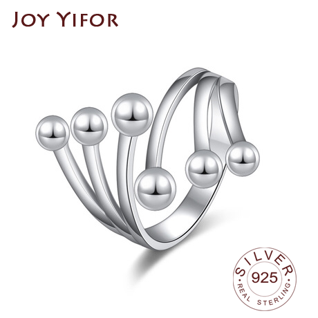 Simple Style 925 Sterling Silver Rings For Women Wave Shape Size Ring 5 6 7 8 9 10 Gift For Friend Fine Jewelry