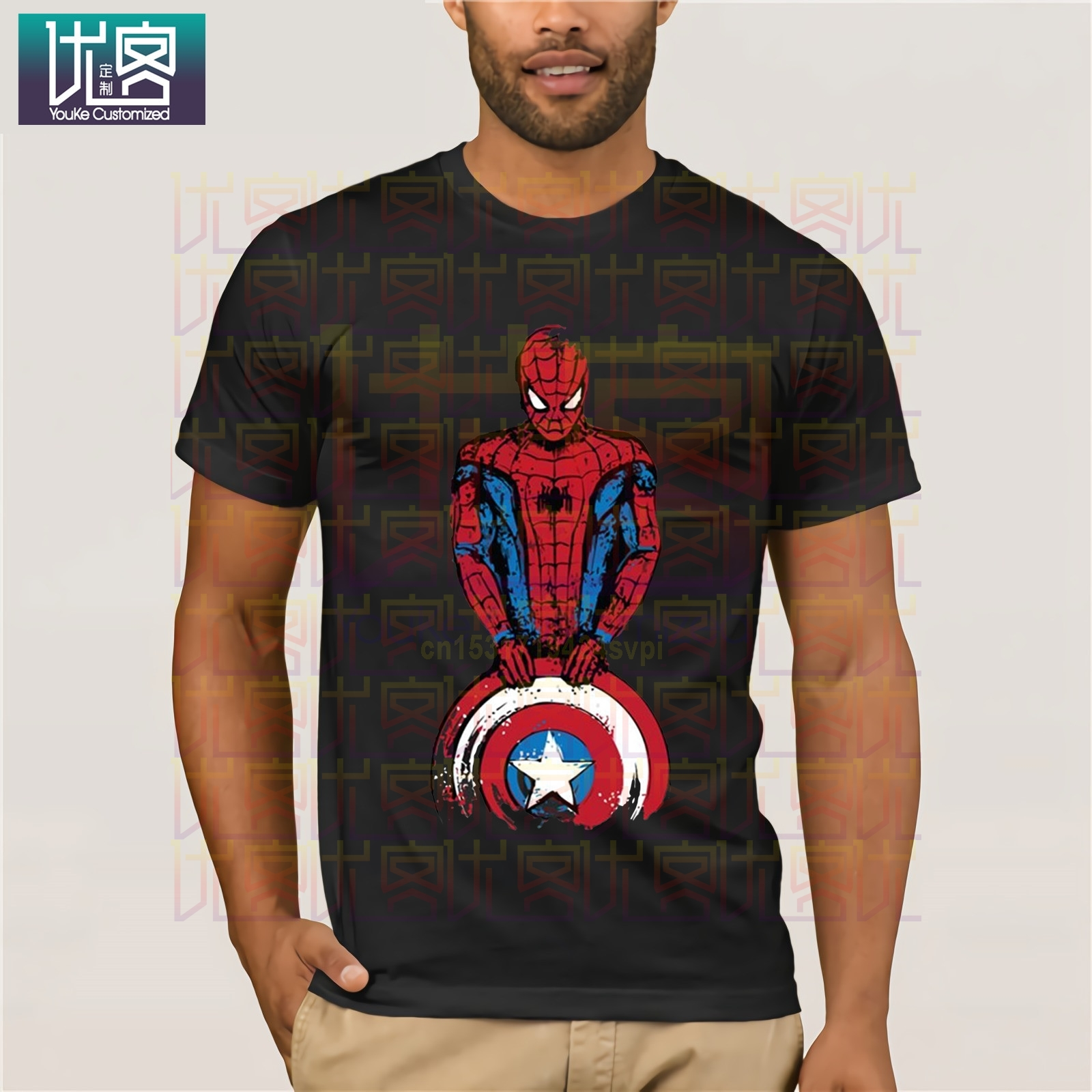 gildan-100-cotton-o-neck-customised-t-shirt-men-the-spider-is-coming-captain-spiderman-funny-marvel-font-b-avengers-b-font-design-tee-shirt