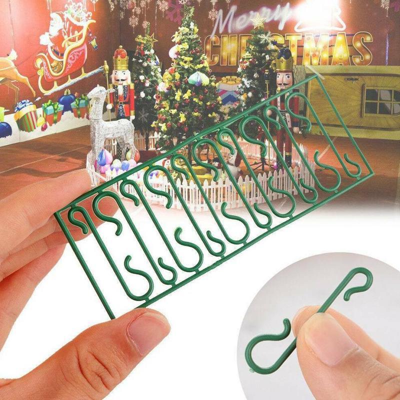 50/100pcs Sale Multi Function S Shape Hooks For Christmas Tree Pendant Decoration Holders Christmas Ornaments Decor