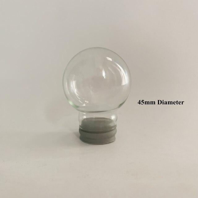 Promotional Gift 45mm Diameter DIY Empty glass snow globe wholesales