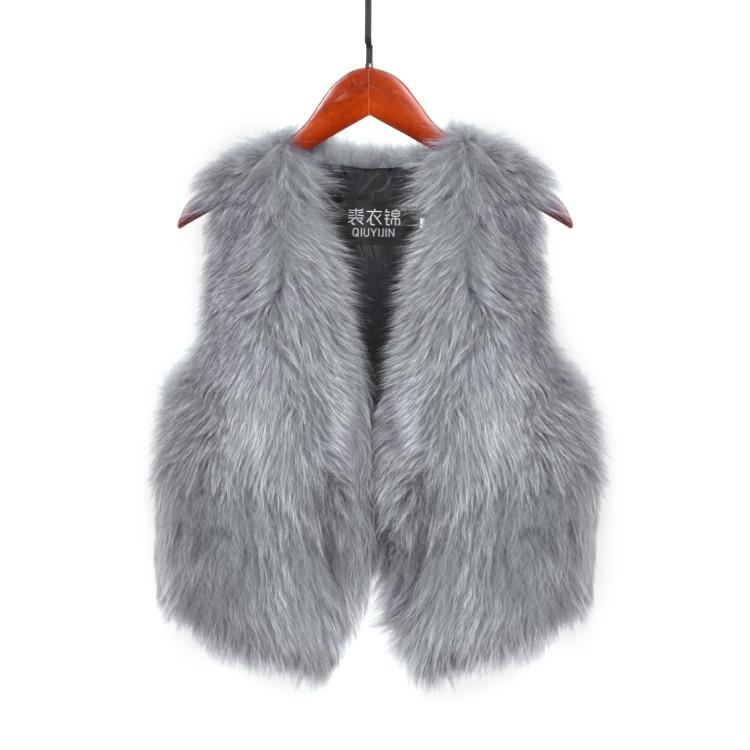 Free Shipping,Brand Fashion Lady Leather Vest.quality 100% Fox Fur Jacket.femme Shearling Fox Hair.winter Warm Fur Waistcoat