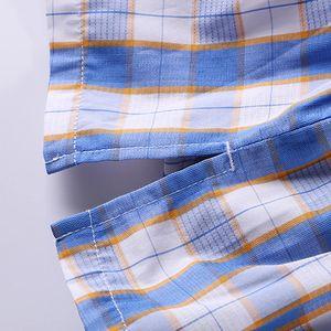 Image 5 - Soutong 3 pcs 남자 속옷 반바지 클래식 격자 무늬 면화 복서 cuecas 수면 속옷 통풍 남자 팬티 calzoncillo hombre