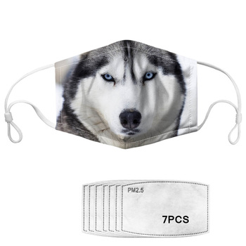Face Mask Cool 3D Animal Wolf/tiger Designer Kids Mask Mouth Mask Dustproof Outdoor Cycling with 7 Filters Masque