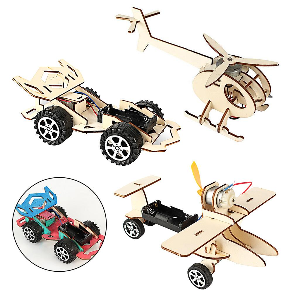 Student DIY Electric Car Plane Shape Science Experiments Model Toy Materials Educational Toy Student DIY Science Experiments Toy