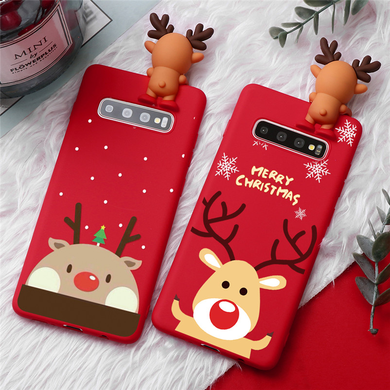 Christmas Deer Elk Cover For <font><b>Samsung</b></font> Galaxy J3 J5 J7 Prime A3 A5 A7 2016 2017 J4 <font><b>J6</b></font> A6 <font><b>Plus</b></font> A8 A9 <font><b>2018</b></font> Note 8 9 10 <font><b>Plus</b></font> TPU Case image