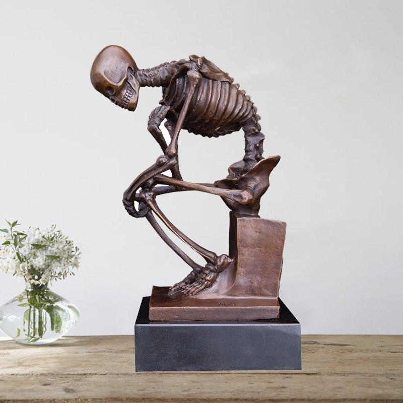 Аксессуары для украшения дома rodin бронзовая скульптура для украшения дома череп Декор статуя скульптура домашний декор