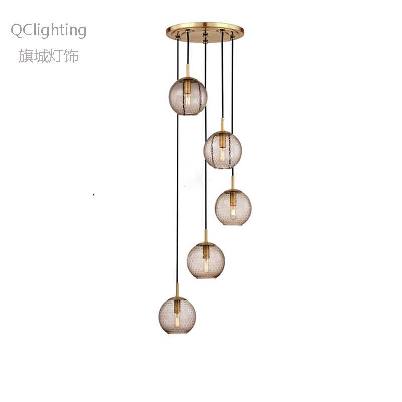 Nowoczesne loft szklane wiszące lampa w kształcie kuli LED E27 Nordic wiszące lampy z 2 kolorami do salonu restauracja sypialnia lobby kuchnia