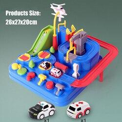 Corridas de trem faixas ferroviário carros aventura manual do carro brinquedo jogo de mesa quebra-cabeça brinquedos para crianças casa jogar jogo presente