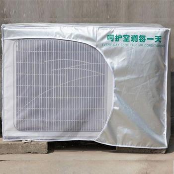 Klimatyzator na powietrze na zewnątrz osłona przeciwpyłowa srebrna wodoodporna zewnętrzna poliestrowa osłona przeciwśnieżna osłona przeciwdeszczowa AGL003 tanie i dobre opinie CN (pochodzenie) Poliester bawełna Nowoczesne