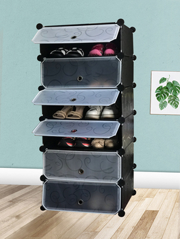 SOKOLTEC Simple Shoe Cabinets Multi-layer Assembly of Rack with Modern Dustproof Cabinet DIY multifunctionl