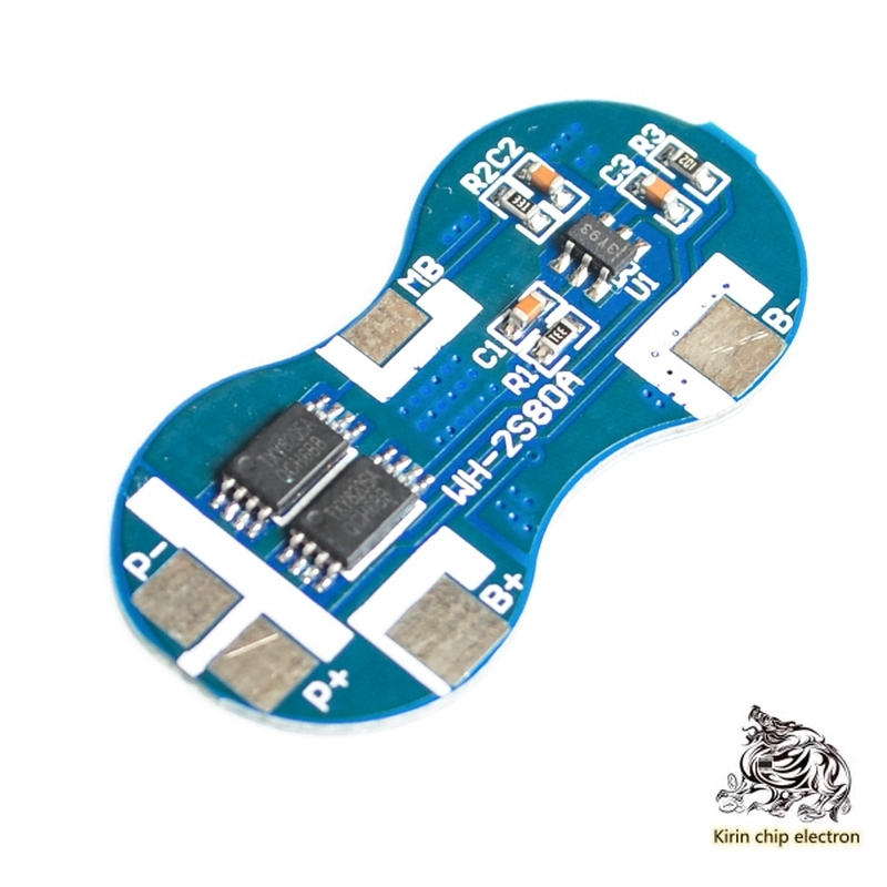 5pcs / Lot 7.4v 2-string 18650 Lithium Battery Protection Board Double String Protection Chip 8.4v Over Flow Punch 4A