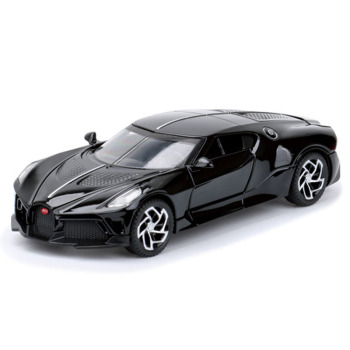 1:32 Black Toy Car Alloy Sports Car Model Diecast Metal Collection Car Decoration Sound And Light Car Pull Back Car Toy Vehicle new arrival gift lp700 matte 1 18 model car collection alloy diecast scale table top metal vehicle sports race decoration toy