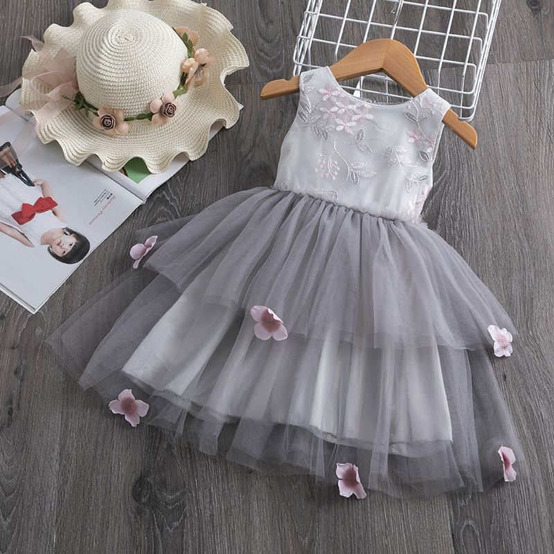 Hb7a5b543d6ef46d2a22b091e17857f8bj Lace Little Princess Dresses Summer Solid Sleeveless Tulle Tutu Dresses For Girls 2 3 4 5 6 Years Clothes Party Pageant Vestidos