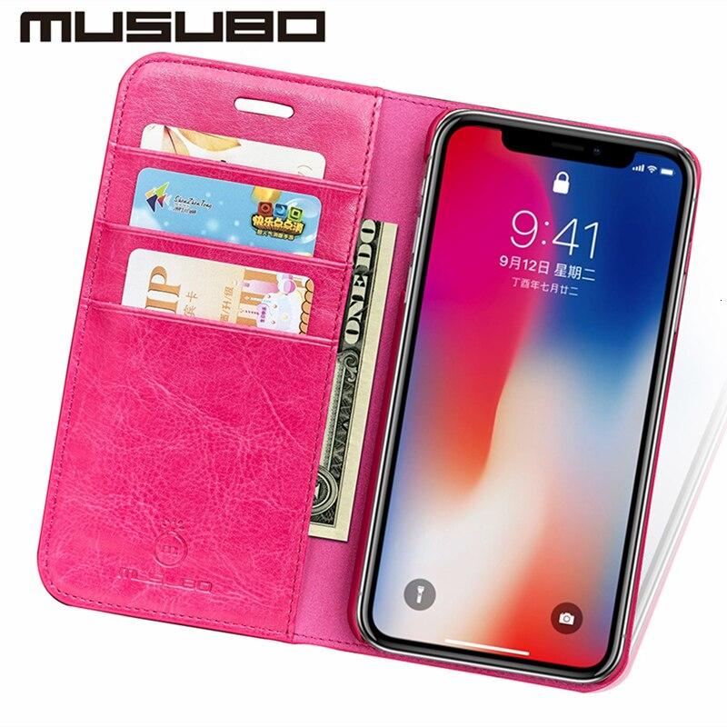 Musubo Luxury Leather Wallet Casing Cover for iPhone Xs Max X XR 7 - Ανταλλακτικά και αξεσουάρ κινητών τηλεφώνων - Φωτογραφία 6