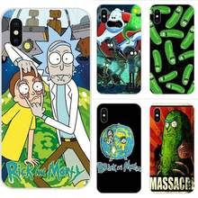 Funny Cartoon Comic Meme Rick And Morty Soft TPU Mobile Phone For Apple iPhone 4 4S 5 5C 5S SE 6 6S 7 8 Plus X XS Max XR(China)