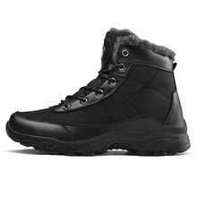 Теплые зимние ботинки на меху; Мужская зимняя обувь; мужская кожаная обувь; ковбойская водонепроницаемая обувь; мужская повседневная обувь в байкерском стиле; обувь года