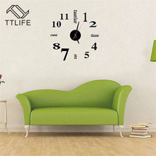TTLIFE Multicolor Plastic Digital Wall Clock 3D Stickers Acrylic Excellent Removable Mirror Sticker Home Decorative Decals