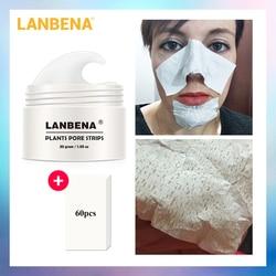 Descamação Máscara LANBENA Nariz Máscara Removedor de Cravo Pore Faixa Preta Tratamento Da Acne Controle de Óleo de Limpeza Profunda Máscara Facial do Cuidado Da Pele