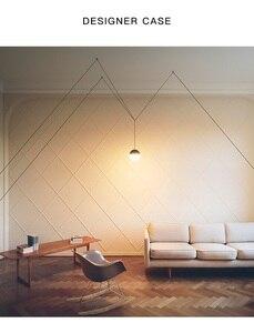 Image 5 - Lukloy Nachtkastje Moderne Hanglamp Led Draad Schorsing Lichten Kroonluchter Loft Decor Keuken Eiland Glazen Bol Lampen Met Hangers