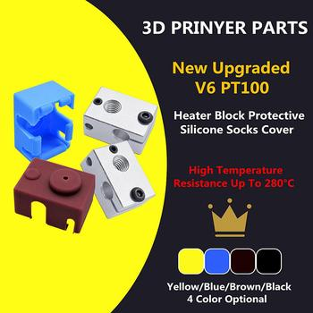 E3D V6 Upgraded version Heating Block 23*16*12mm for PT100 and NTC3950 thermistor J-head hotend Prusa i3 Kossel 3D printer parts