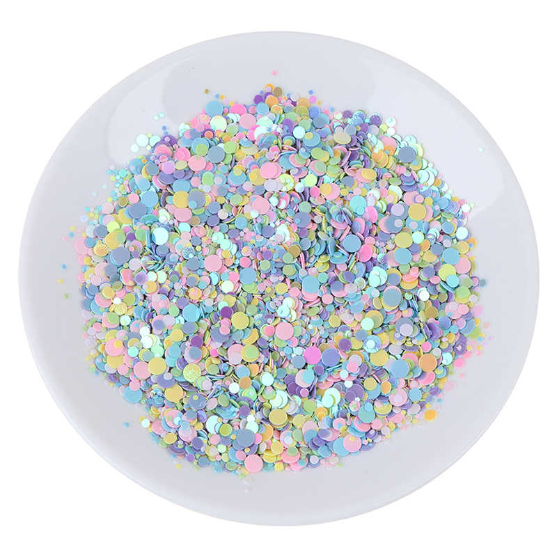 20g Multi tamaño 1-4mm punto forma lentejuelas Paillettes confeti mezcla de colores para DIY mezclar colores