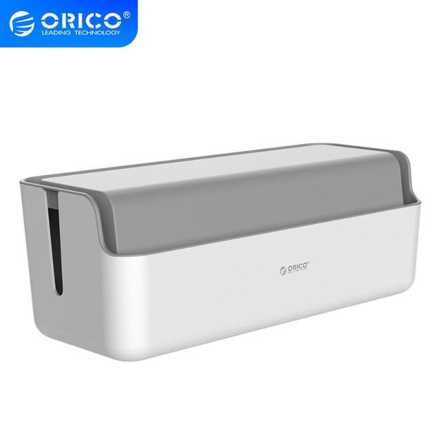 Orico power strip caixa de armazenamento cabo organizador para power bank usb carregador caixa de gestão cabo