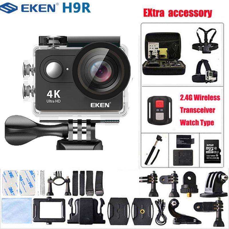 Câmera de Ação ir à Prova Eken k Ultra hd 1080 p 60fps Mini Capacete Cam Wifi Dwaterproof Água Pro Extra 32 gb tf Cartão Esporte Câmera h9 – H9r 4