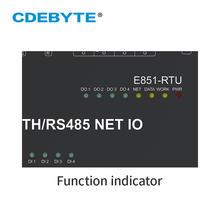 12 Channel Network IO Controller Master-Slave Mode Modbus RTU Anolog Digital Relay Transceiver Modem