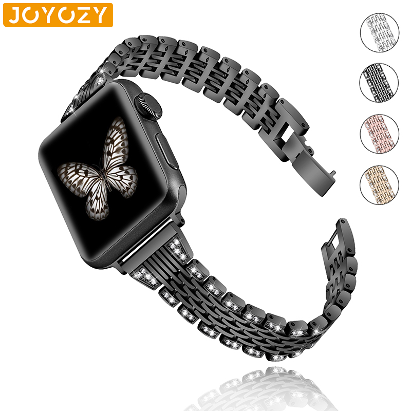 Edition Joyozy Metal Bling Rhinestone Bands Compatible with Apple Band 38mm 40mm,Metal Bracelet Replacement for Iwatch Series 4,Series 3,Series 2,Series 1,Sport