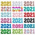 4 шт./компл. 16/32/40 дюймов Многоцветный 2021 цифры Воздушные шары гелиевые Новогодние украшения 2021 Navidad декорации розовое золото вечерние принад...