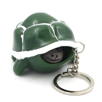 Новый случайный цвет Милая черепаха телескопическая голова брелок мультфильм черепаха кольцо для ключей антистресс сжимаются игрушки забавные вентиляционные игрушки подарок
