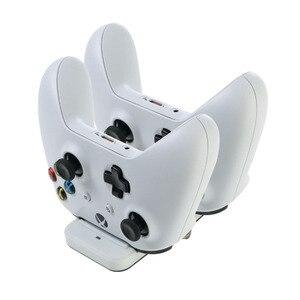 Image 4 - Çift şarj standı istasyonu denetleyicisi Xbox one kablosuz Gamepad için hızlı şarj USB standı tabanı Cradle Xbox olanlar kontrolörleri