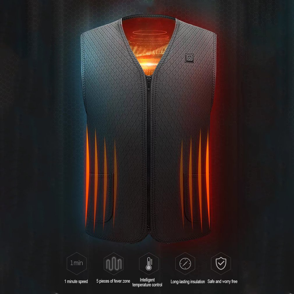 Electric Vest Charging Intelligent Heating Vest Self-Heating Clothes Constant Temperature Warm Waist Vest Clothing