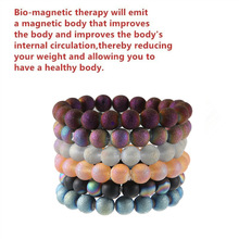 Natural Black Magnetite Colorful Beads Bracelets Men for Magnetic Health Protection Women Jewelry Pulsera Hombre
