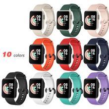 Belt-Wrist-Strap Watch Correa Silicone Bracelet Xiaomi for Replacement Sport Redmi