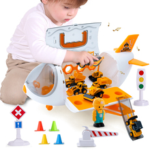Baby Aircraft Storage Toys Music Simulation Track Inertia Children's Passenger Plane Police Engineering Vehicles Cars Toys Gifts
