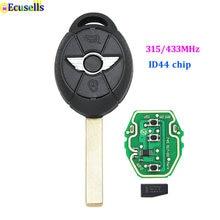 Chave remota completa fob 3 botão para bmw mini cooper 315mhz/433mhz id44 chip sem corte lâmina