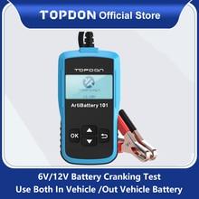 TOPDON AB101 רכב סוללה בודק 12V מתח סוללה מבחן רכב מטען מנתח 2000CCA רכב לסובב טעינה Circut Tester