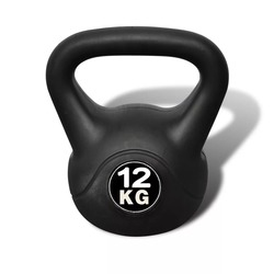 Mancuernas De 12kg VidaXL De Kettlebell 90392, equipos De Fitness para fisicoculturismo, gimnasio en casa, deportes De ejercicio