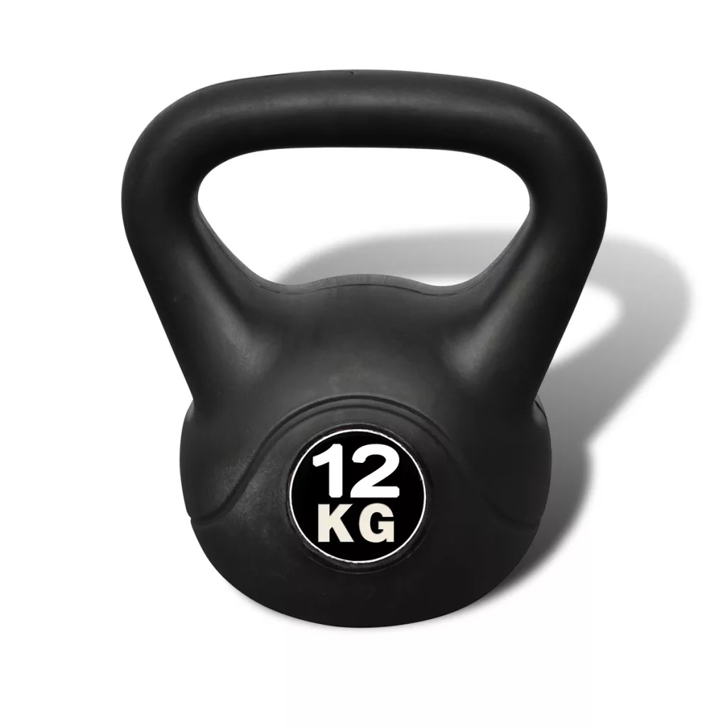 VidaXL Kettlebell De 12kg Dumbbells 90392 Body Building Fitness Equipments Home Gym Exercise Sports