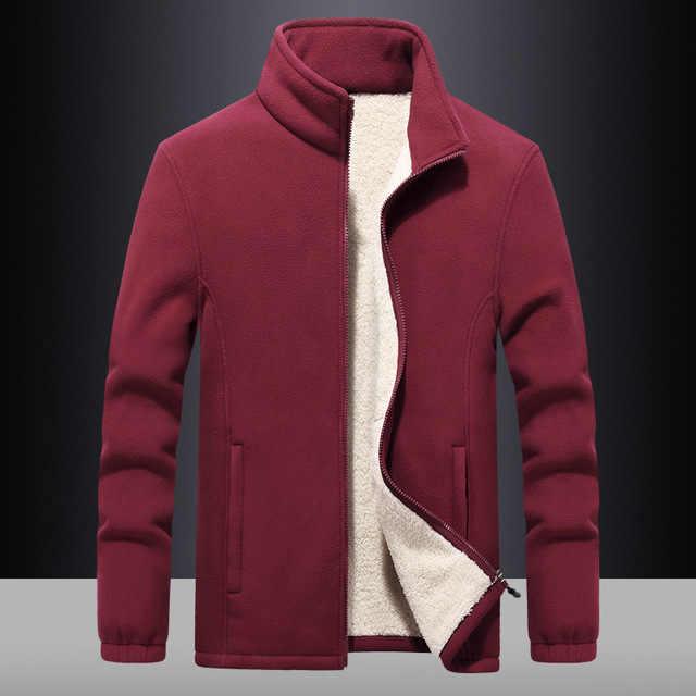 가을 겨울 패션 남성 자 켓 코트 남자 지퍼 양 털 따뜻한 남자 자 켓 솔리드 캐주얼 자 켓 코트 플러스 크기 7xl 8xl 9xl