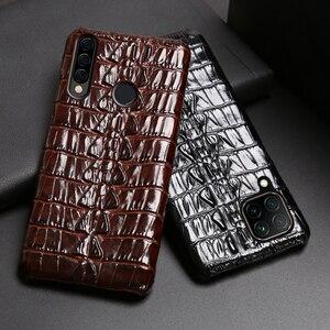 Image 2 - جلد حالة الهاتف ل هواوي الشرف 30 30S X10 20 20i 10 10i 9 8 لايت 9X 8X ماكس 7X 7A V30 برو V20 V10 التمساح الذيل الخلفي غطاء