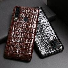 Leather Phone Case For Huawei Mate 40 30 20 20X 10 P20 P30 Lite P40 Pro Plus P Smatr Nova 5T Y6 Y9 2019 Crocodile Tail Cover