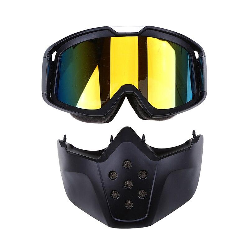 POSSBAY lunettes Clout adulte moto motard prévision Motocross lunettes colorées ATV Msak pour visage ouvert moto casque masque